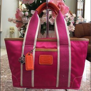 Coach Hamptons Pink Satin Mini Tote L04k-1893 EUC!